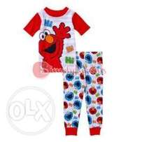 "Sesame Street ""Elmo Hi Hi"" Cotton Tight Fit Short Sleeve PJ Set (9 Mon"