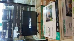 Brand New boxed 32 inches digital and satellite flat Hisense screen.