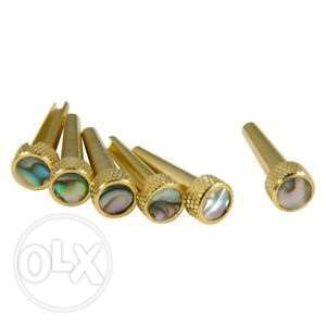Gold metal guitar pins