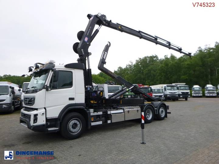 Volvo FMX 6x2 Euro 5 container hook + HMF 2420-K5 - 2013