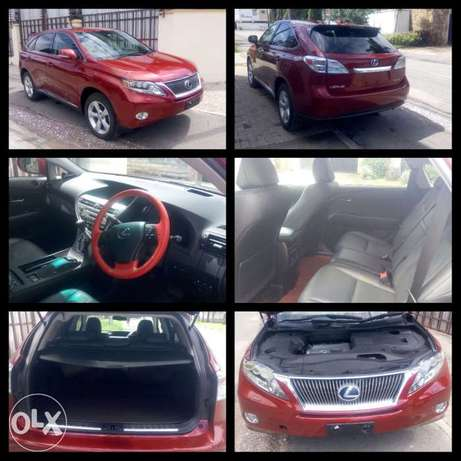Red colour 2010 model Lexus RX 450h KCP number Mombasa Island - image 5