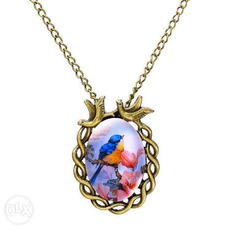 Women Vintage Floral Bird Statement Necklace Nairobi CBD - image 3