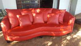 Genuine Leather Loveseat Couch