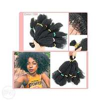 Afro Kinky Bulk Hair For Ladies - Black
