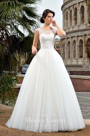 Suknia ślubna Litera A Riviera Monica Loretti 2017 Rozm 36 38 40