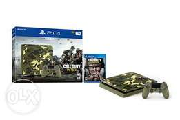 PS4 Slim 1TB Limited Edition Console - Call of Duty WWII Bundle