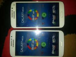 Hi I'm saling 2 samsung galaxy mega for saling in very cheep R1900