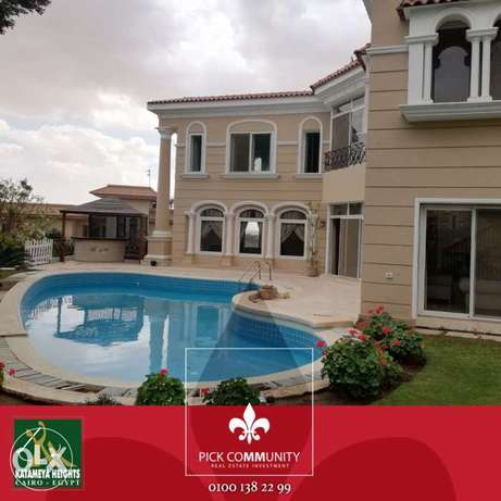 Villa for rent in Katameya Heights luxury finishing with swimming pool