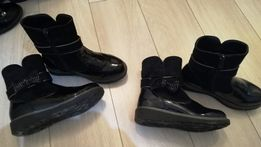 0a2194fa2e756 Eleganckie lakierowane czarne botki r. 32 (22cm)