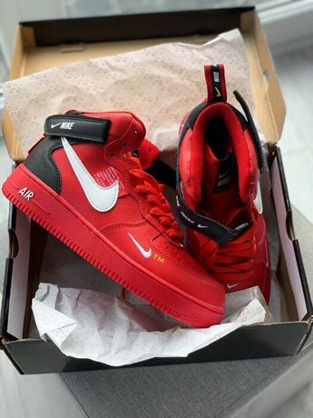 Nike Air Force 1 Mid Utility Red r40 44 Lublin • OLX.pl
