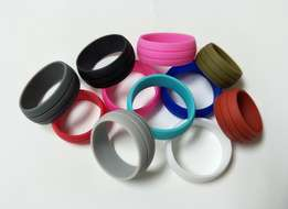 Flexible Hypoallergenic Silicon Rings In Various Colours