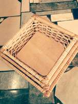 Square hand weaved baskets