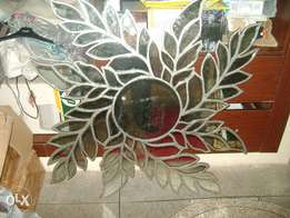 decorative leafy wall mirror