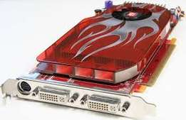 Powerful GDDR3 ATI graphics card