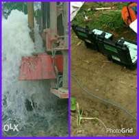 Hydrogeophysical survey and borehole drilling