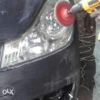 Car buffing and cleaning services