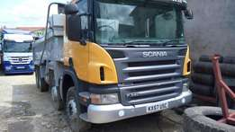 Scania Double Steering Tipper.
