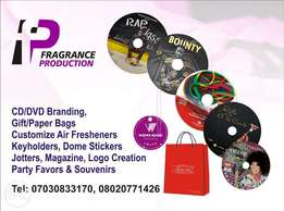 CD Printing, Gift Bags, Customize Air Fresheners, Keyholders, Boxes,