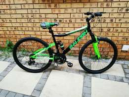 Raleigh Bicycle black and green