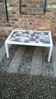 Metal Coffee tables with glazed tops
