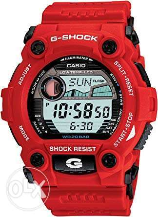 casio g shock rescue red original with tag anb box