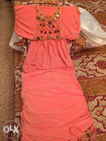 Pink orange wonderful dress. size small فستان زهري أشرفية -  3