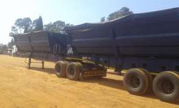2008 Forty cube side tipper trailer for sale