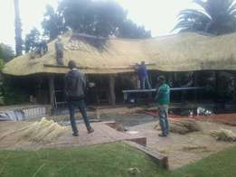 Thatching and swimming pool
