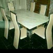 Marble dining table for 6setter
