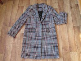 Пальто Zara из ткани в клетку размер М c3ccee277f9f2
