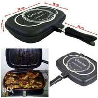 Double sidded grill pan