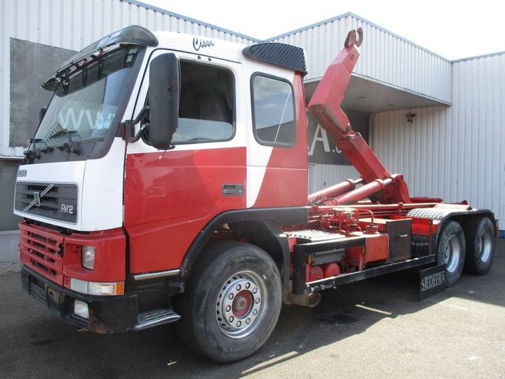 Volvo FM 12 - 420 , 6x4 , Hook Loader , Belgium Truck , Euro 2 - 1991
