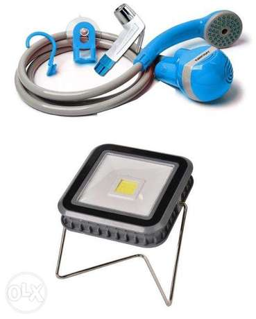 Solar Light Lamp Rechargeable Camping Shower