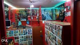 Cyber cafe and Movie shop
