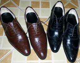 Brand new men's leather shoes.