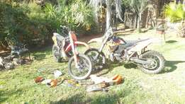 2 KTM XC-W inlc crates of spares