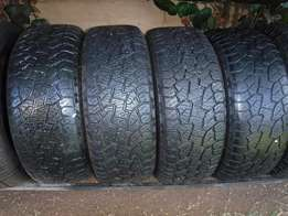 4xHankook Dynapro ATM tyres 255/55/19,Close to 80 percent!!