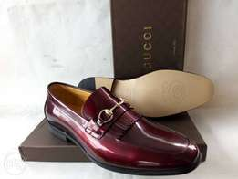 Patent wine color red Gucci loafers