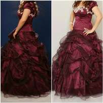 Plum Matric ball gown for sale