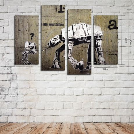 Obraz 4 Częściowy Star Wars Na Płótnie Gwiezdne Wojny Płótno Obrazy