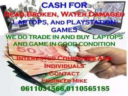 Instant Cash For Dead And Broken Laptops and play station games