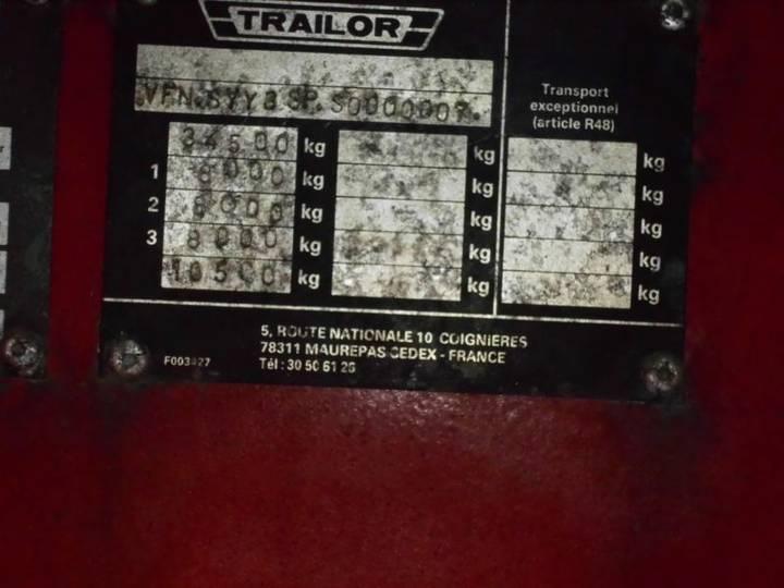 Trailor Syy3sp Tieflader - 1995 - image 8