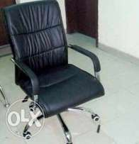 Exotic leather office chair