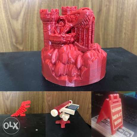 3d prints ,CAD designs of your choice, arduino/electronics projects
