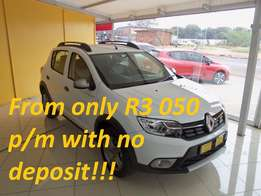 2017 Renault Stepway Turbo Expression, White, 45km, R174 900
