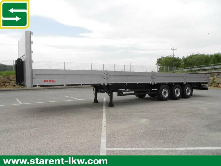 Koegel Baustofftrailer, 60cm Bordwände, SAF-Achsen,NEU - 2019