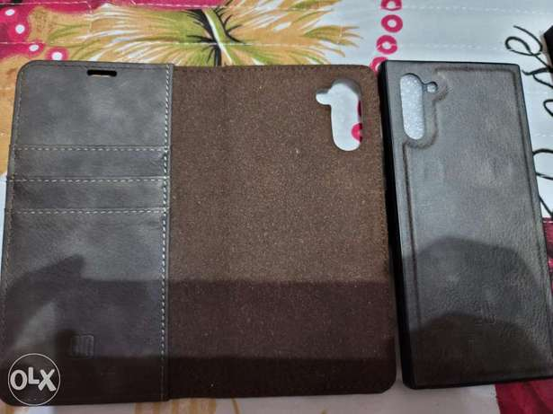 Note 10 flip cover + screen protector
