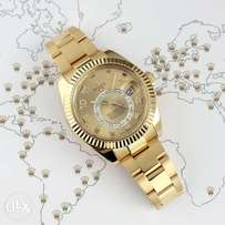 Authentic Rolex skydweller Numerao gold watch