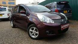 Nissan Note, Maroon, (KCL), Year 2010, 1500cc, Automatic transmission