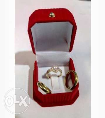 Classic Heart Design Couple's Wedding Rings Lagos Island East - image 1